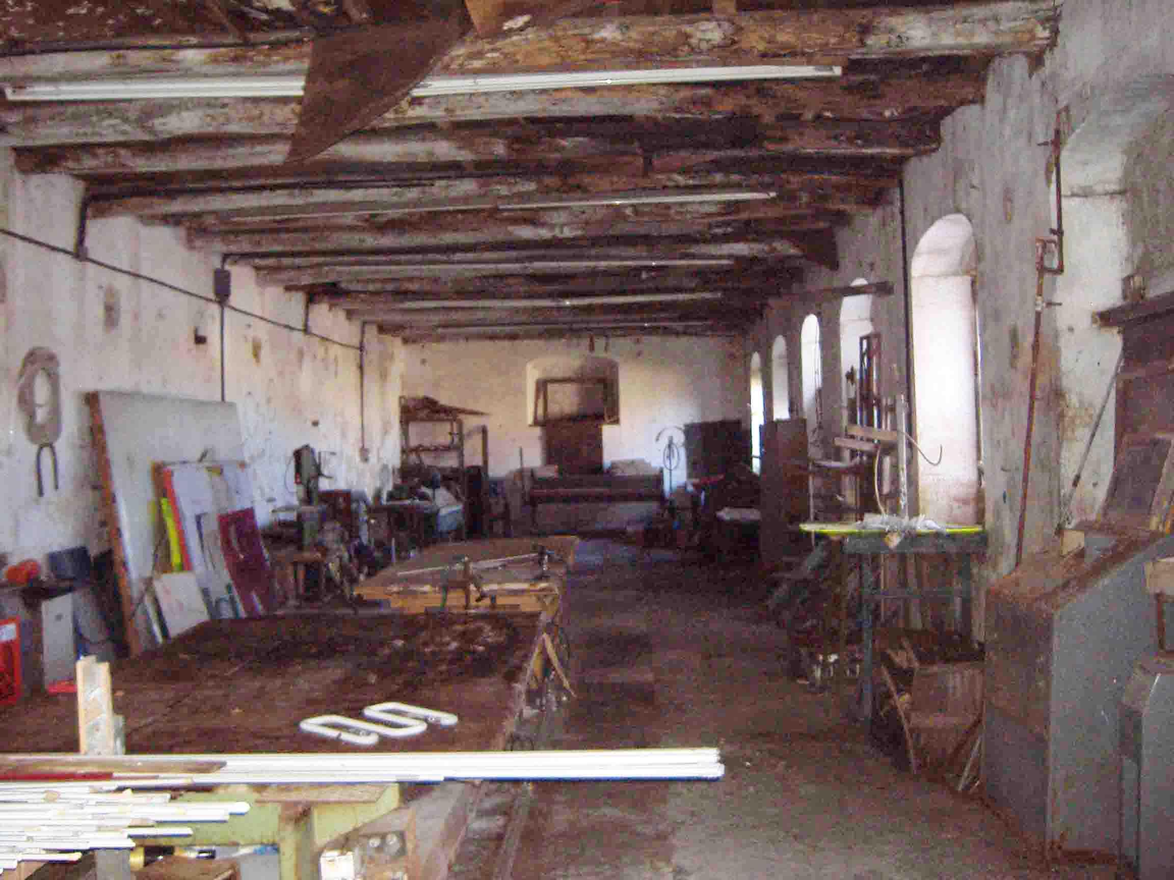 La Filanda dei Quintieri - La Sala Piccola prima del restauro